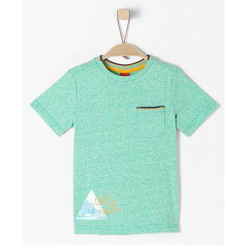 S.oliver t-shirt chłopięcy 128 - 134 jasnozielony (4055268457611)
