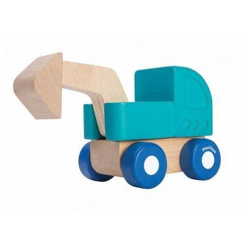 Plan toys Drewniane mini autko - koparka z ruchomym podnośnikiem,