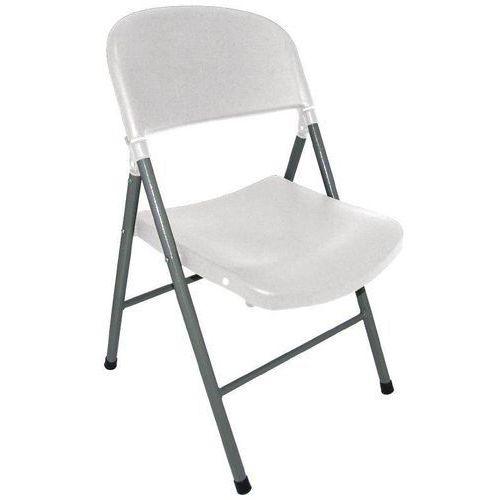Krzesła składane białe | 2 szt. | 49x50x(H)81cm