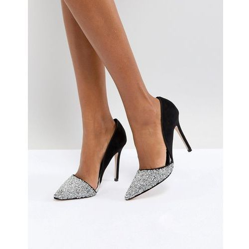 Miss KG Eloise Silver Glitter Court Shoes - Silver