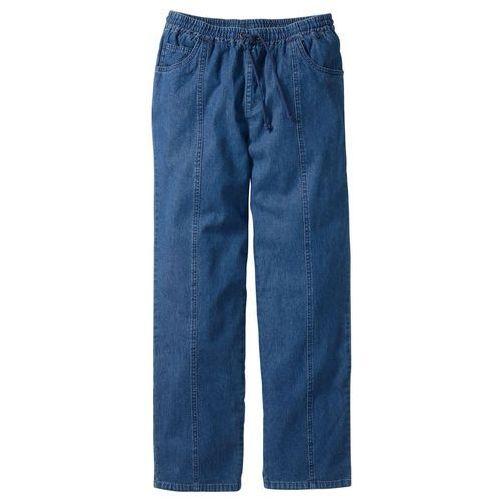 Spodnie z gumką w talii classic fit straight niebieski, Bonprix