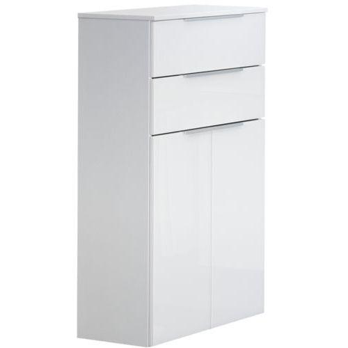 Fackelmann Szafka łazienkowa biała, 2-drzwiowa, 2 szuflady kara