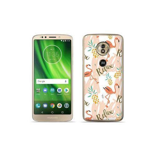 etuo Fantastic Case - Motorola Moto G6 Play - etui na telefon Fantastic Case - różowe flamingi, ETMT716FNTCFC042000