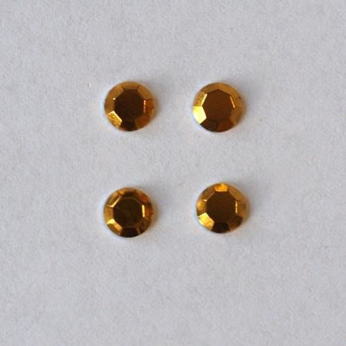 Dżety hot fix okrągłe 5mm/16szt. - żółty - żół marki Pentart