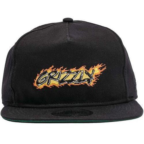 czapka z daszkiem GRIZZLY - Grizzlyxghost Rider Strapback Black (BLACK), kolor czarny
