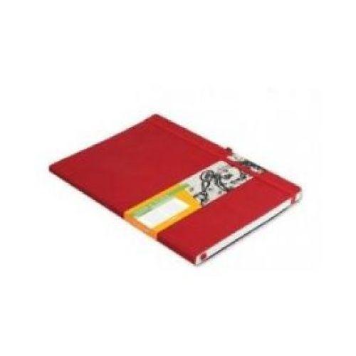 Notes b5 impresja czerwony w kratkę marki Antra