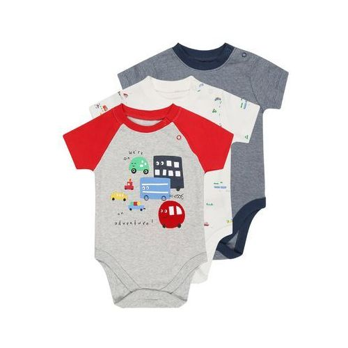 mothercare MARL GRAPHIC STRIPE BABY 3 PACK Body brights multi (5021463983261)
