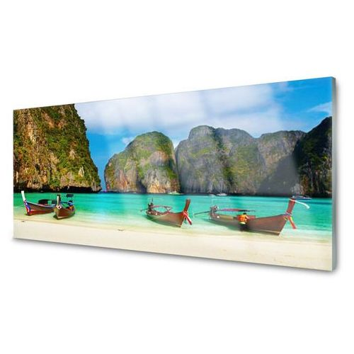 Obraz Akrylowy Plaża Morze Góry Krajobraz