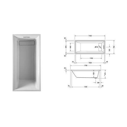 Duravit 2nd floor  170 x 75 (700075000000000)