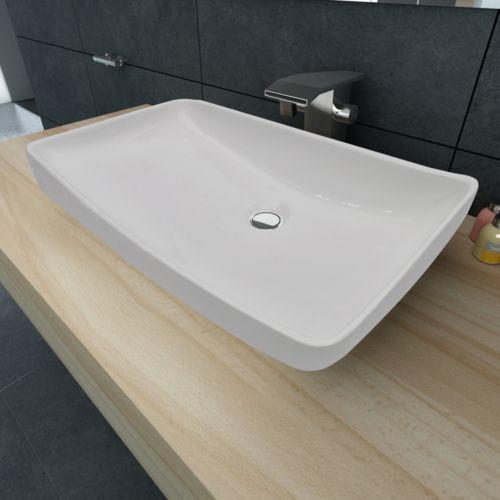 vidaXL Luksusowa umywalka prostokątna 71 x 39 cm ceramika, kup u jednego z partnerów