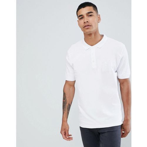Pull&Bear Join Life polo in white with sunset embroidery - White, w 3 rozmiarach