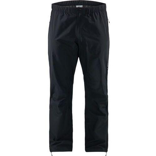 l.i.m spodnie długie mężczyźni czarny l 2019 spodnie przeciwdeszczowe marki Haglöfs