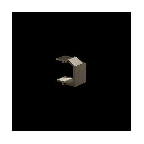 Zaślepka otworu wtyku RJ45/RJ12 do pokrywy gniazda teleinformatycznego; brąz mat