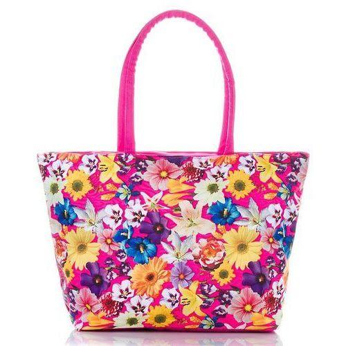 Loren Torba plażowa damska wakacyjne kwiaty - różowy ||żółty ||niebieski ||fioletowy ||zielony ||biały ||pomarańczowy ||wielokolorowy ||wielobarwny