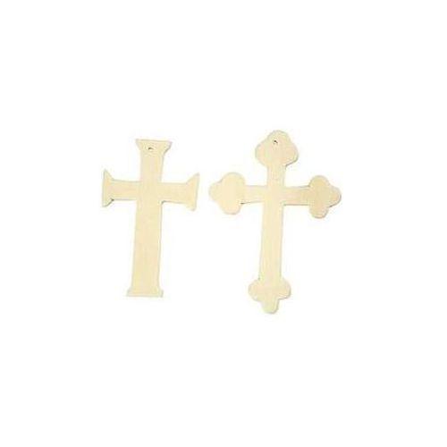 Drewniany krzyż - zestaw 6 sztuk