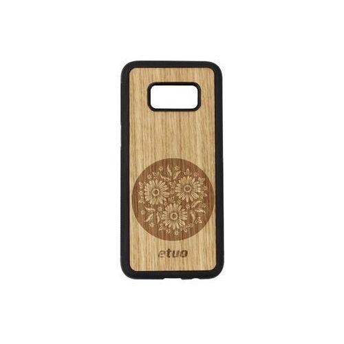 Etuo wood case Samsung galaxy s8 - etui na telefon wood case - dąb - kwiaty