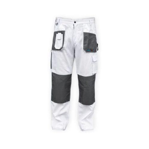 Spodnie robocze bh4sp-xxl biały (rozmiar xxl/58) marki Dedra
