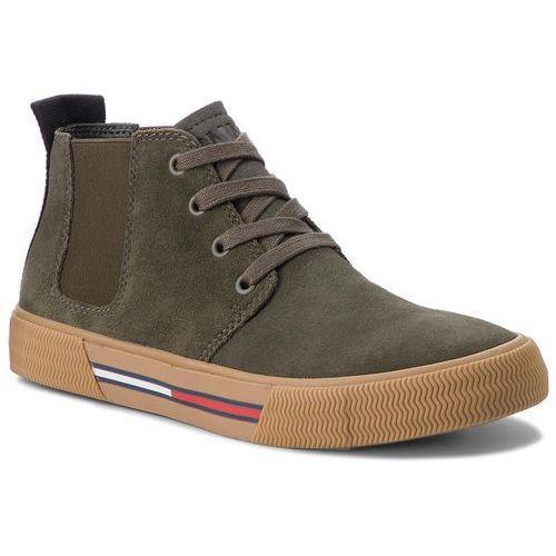 Trzewiki TOMMY JEANS - Chukka City Sneaker EM0EM00127 Forest Night 307