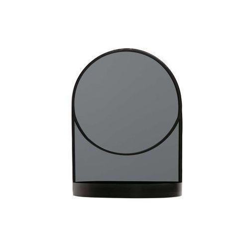 Woood Lustro MALIK metalowe czarne 373214-Z, kolor czarny