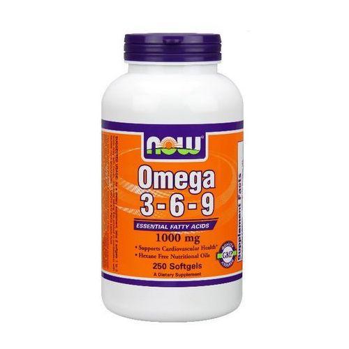 Now Foods Omega 3-6-9 1000mg 250 kaps. - kapsułki pozostałe leki chorób serca i układu krążenia