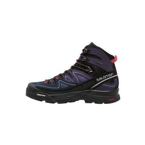 Salomon X ALP GTX Buty trekkingowe black/nightshade grey/coral punch