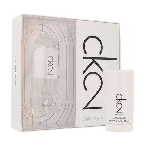 Calvin Klein CK2 U Zestaw perfum Edt 100ml + 75ml Deostick