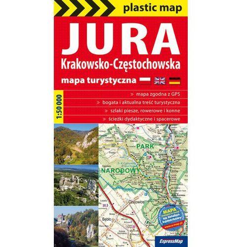 Jura Krakowsko-Częstochowska foliowana mapa turystyczna 1:50 000, oprawa miękka