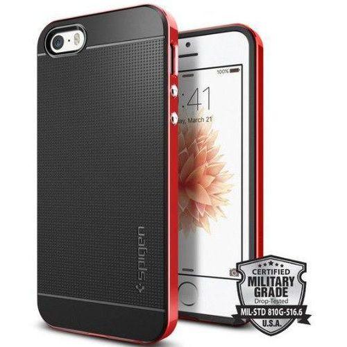 Sgp - spigen Obudowa spigen neo hybrid carbon apple iphone 5 / 5s / se dante red - dante red (8809466643651)