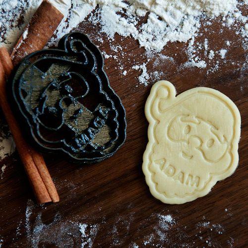 Święty mikołaj - personalizowana foremka 3d do ciastek - foremka 3d marki Mygiftdna