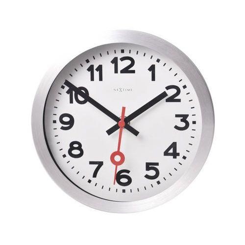 Nextime Zegar ścienny 19 cm station biały