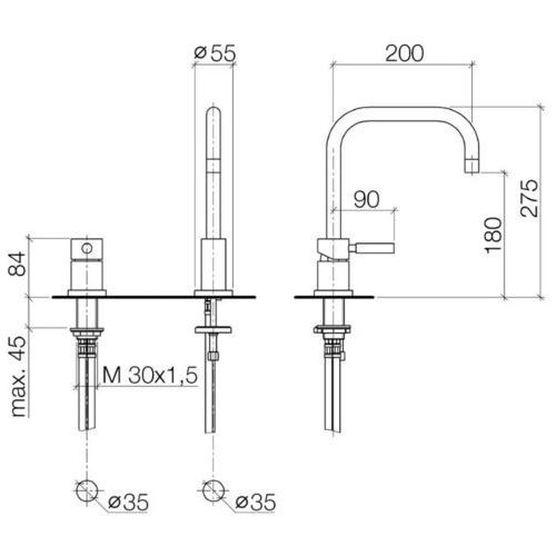 Bateria Dornbracht Meta.02 32800625-06