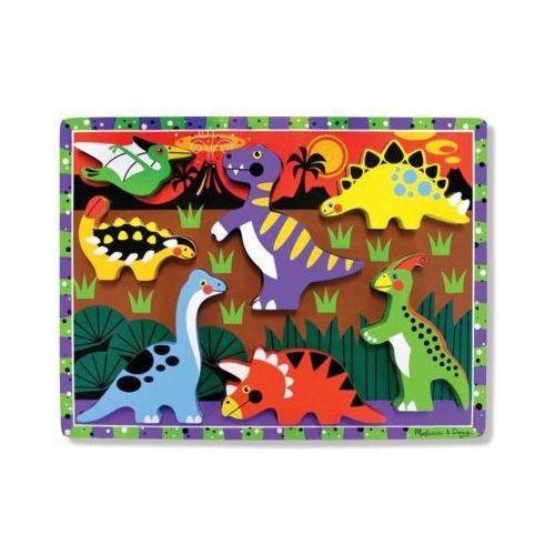 Melissa & doug Puzzle drewniane dinozaury 13747 (0000772137478)