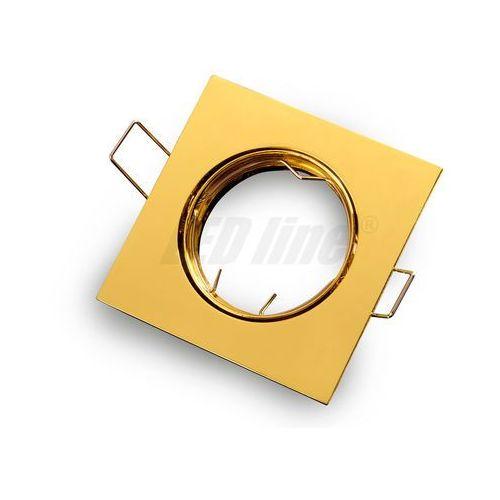 Led line Oprawa halogenowa sufitowa kwadratowa ruchoma, odlew stopu aluminium- złota (5901583242939)