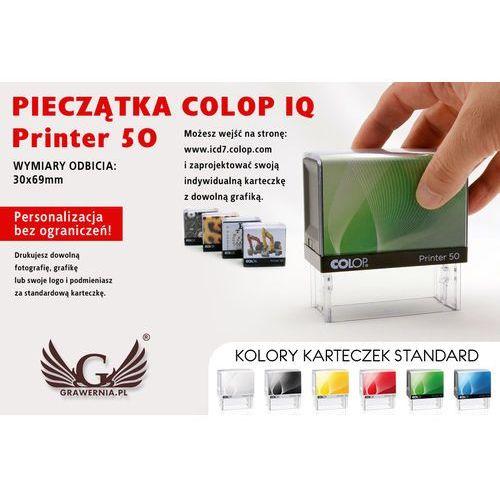 Colop Pieczątka samotuszująca printer 50 - wymiar płytki tekstowej: 30 x 69mm
