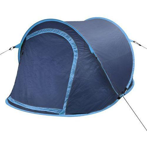 vidaXL Namiot campingowy dla 2 osób, granatowy/jasny niebieski (8718475902669)