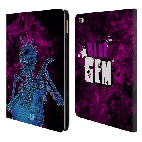 Head case Etui portfel na tablet - skull of rock blue gem