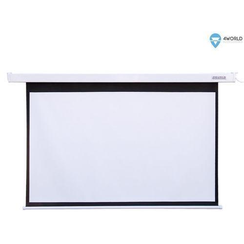 4world elektryczny ścienny/sufitowy ekran projekcyjny z pilotem 221x124 (16:9) matt white - darmowa dostawa!!! (5908214361878)