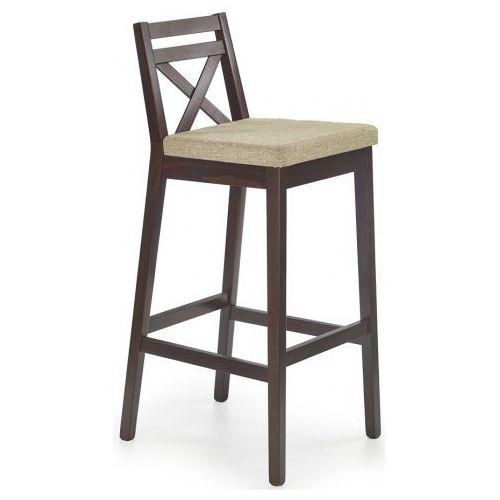 Elior.pl Wysokie krzesło do baru lidan 2x - ciemny orzech