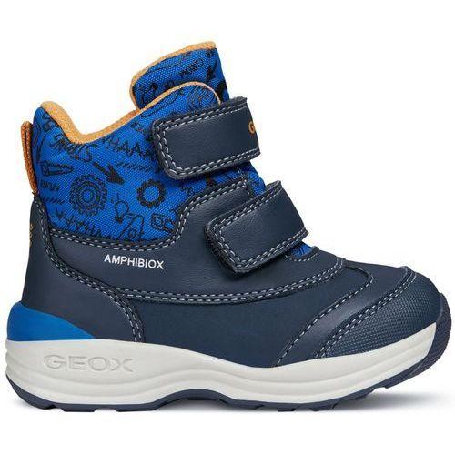 buty zimowe za kostkę chłopięce new gulp 23 niebieski marki Geox