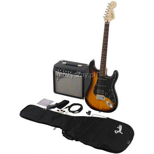 Fender  squier affinity stratocaster hss bsb gitara elektryczna, zestaw (wzmacniacz 15w, pokrowiec, akcesoria)