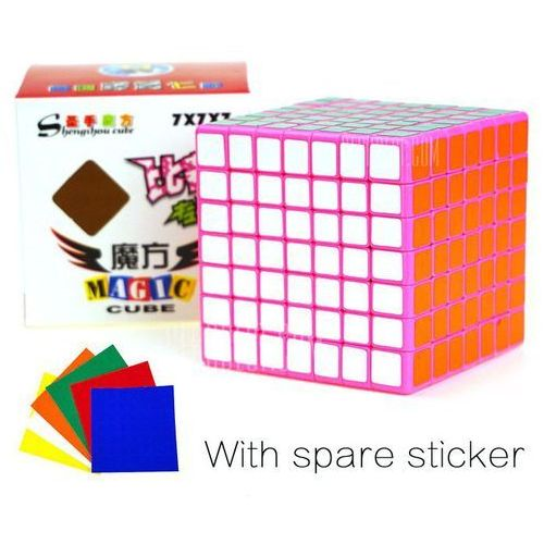 Shengshou cube competition 7 x 7 x 7 pink base v-cube 7 portable intelligent toy wyprodukowany przez Gearbest