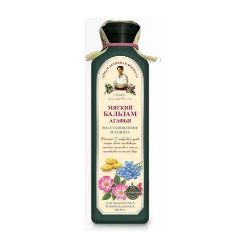 Babuszka agafia delikatny balsam do włosów farbowanych 350ml marki Pierwoje reszenie, rosja