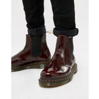 Dr Martens faux leather 2976 chelsea boots in red - Red