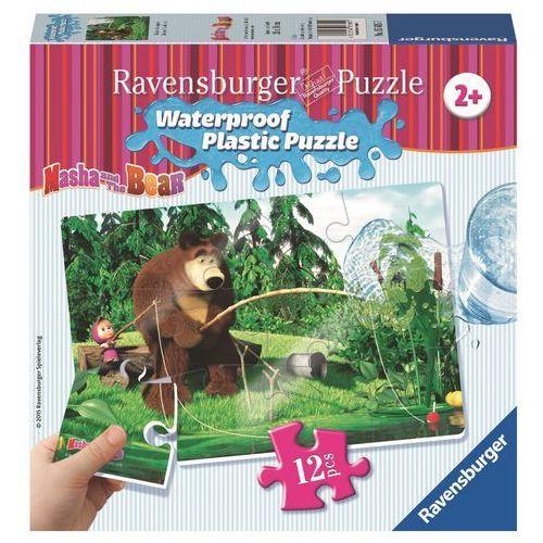 Ravensburger Puzzle plastikowe 12 elementów. masza i niedźwiedź. na ryby (056057) + zakładka do książki gratis (4005556056057)