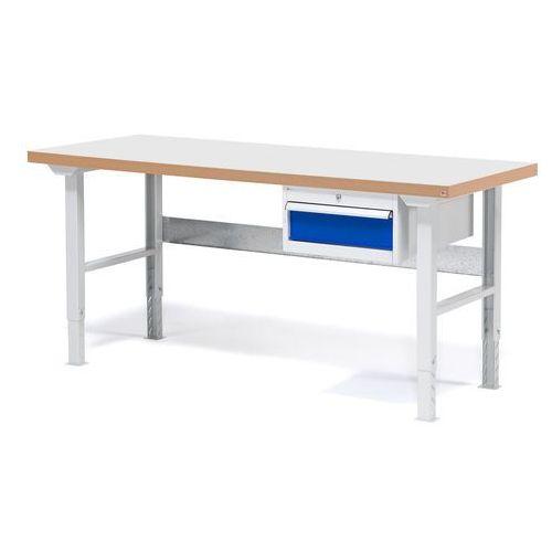 Stół warsztatowy solid, z szufladą, 500 kg, 1500x800 mm, laminat marki Aj produkty