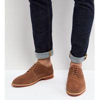 Silver Street Wide Fit Duke Derby Shoes In Tan Suede - Tan