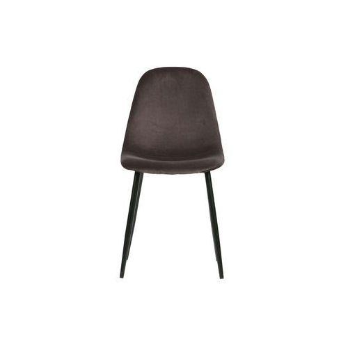 Woood zestaw 2 krzeseł marije velvet szary 373764-g