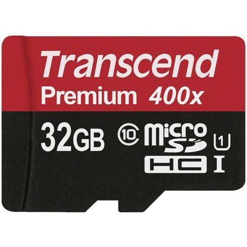 Karta pamięci microSDHC Transcend TS32GUSDCU1, 32 GB, Class 10, UHS-I, 60 MB/s / 25 MB/s, Premium 400x