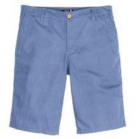 Bermudy w delikatny deseń regular fit niebieski dżins - ciemnoniebieski, Bonprix