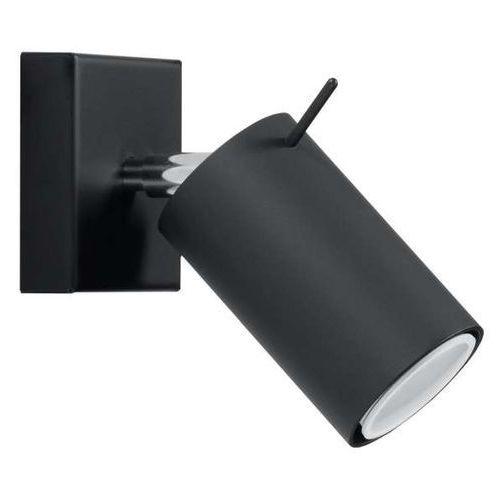 Mdeco Kinkiet lampa ścienna spark sm91 metalowa oprawa regulowana tuba czarna